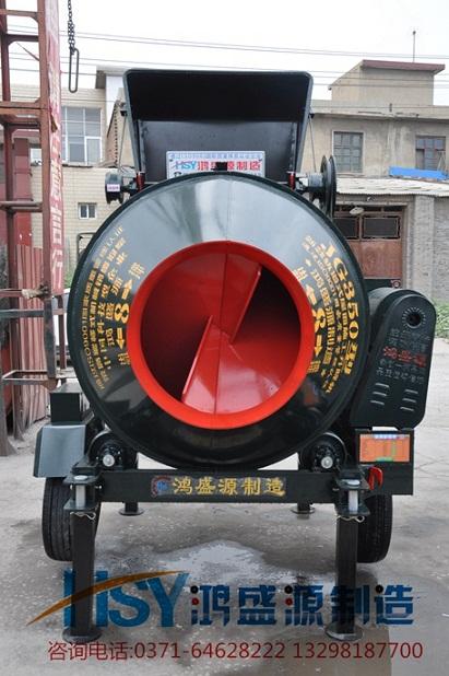 广东佛山式鸿盛源jg350轨道式爬梯混凝土搅拌机安全可靠