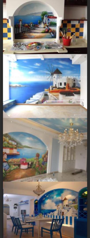 沙发背景墙,玄关背景墙,顶部彩绘,卧室背景墙,儿童卡通墙画,厨卫彩绘