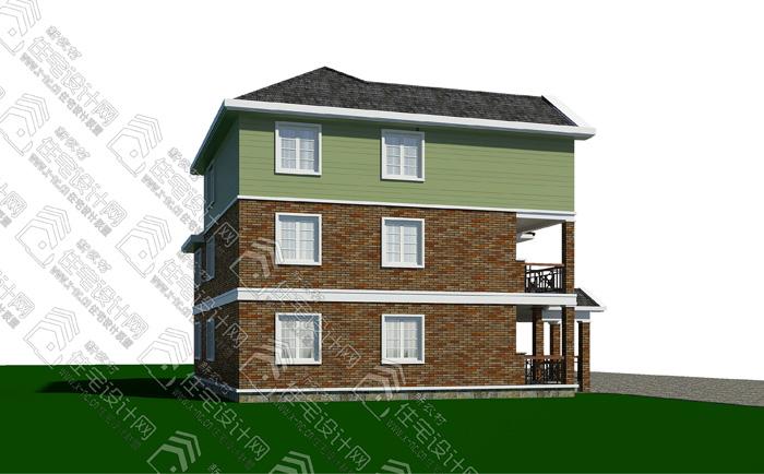 地址:湖南理工学院东院    设计说明 该图纸为新农村三层并联住宅设计施工图,每户建筑尺寸宽9米x进深11米,一层建筑面积96平米,建筑面积224平米,层数3层,檐口高度10.95米;砖混结构住宅; 特点:一层为错层结构、设有老人房,厨房设后门方便生活物质及垃圾处理;三层设露台花园;简欧风格农村住宅、空间布置紧凑、利用率高。 平面布置设计 底层:客厅、餐厅、厨房、卫生间、老人房、储藏间; 二层:卧室3间、娱乐厅、书房、卫生间、露台、阳台; 三层:储藏室、露台; 图纸内容:共37张pdf格式图 建筑效果图: