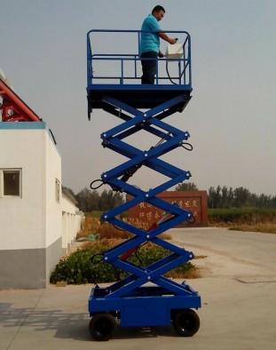 海城升降机 自行走式升降平台 电动液压升降货梯图片