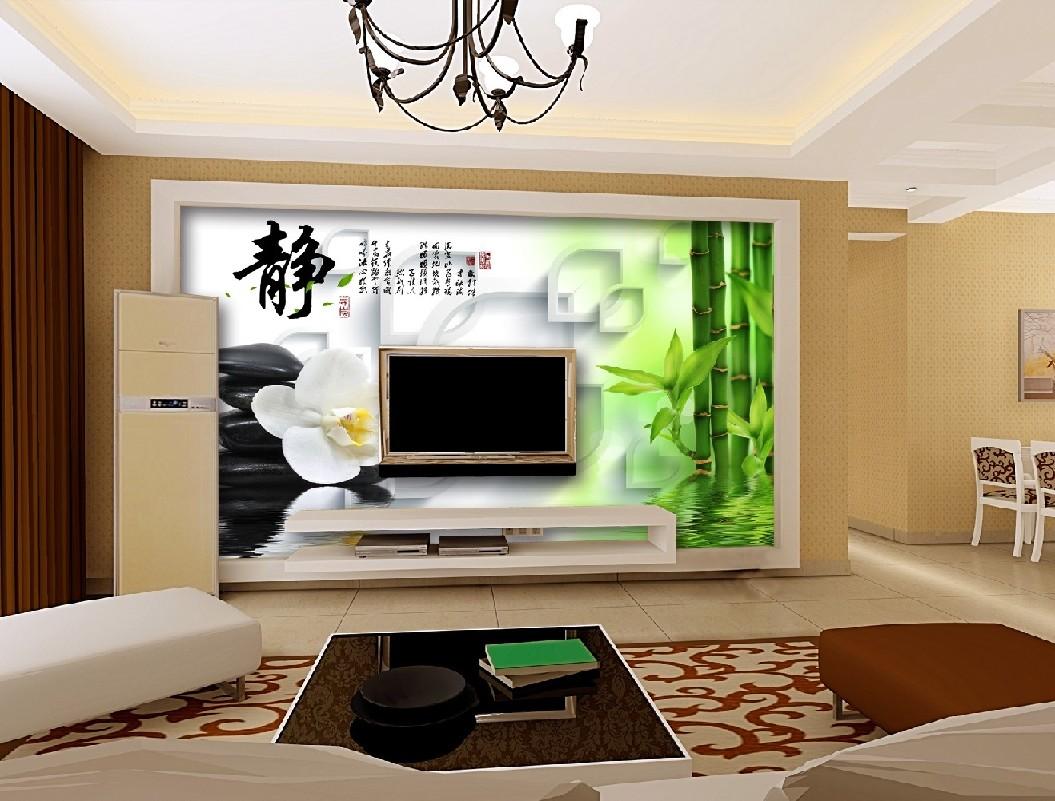 优质客厅电视背景墙,厂家火热供应 ***的客厅电视背景墙 无缝壁布