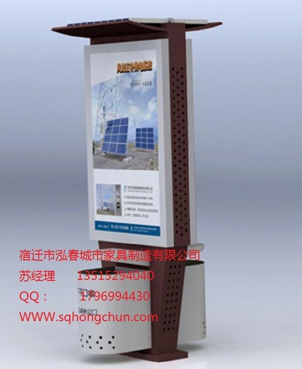 无锡泓春灯箱滚动式广告垃圾箱品质保证