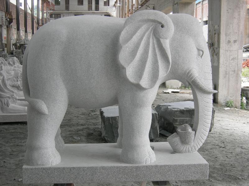 福建知名大象石雕供应商:香港动物石雕厂家