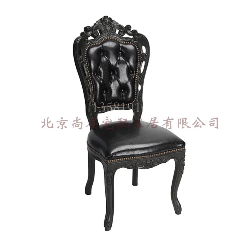 欧式真皮餐椅实木定制家具最新款简欧餐椅书椅