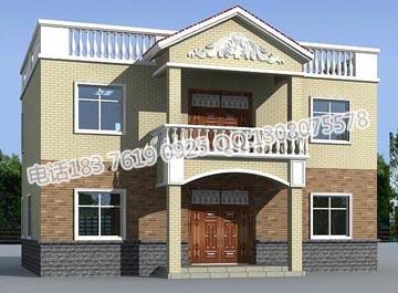 总建筑面积约200平方米的二层农村自建房设计 新农村房屋设计