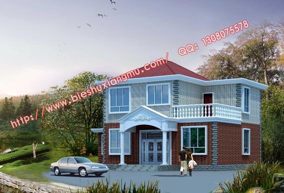 求100平米的农村房屋设计图.带地下室+两层半左右.