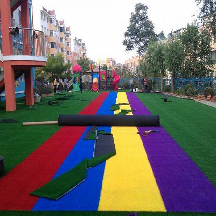 沈阳幼儿园场地草坪铺装案列 图片展示