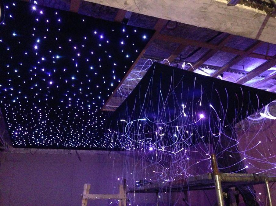 重庆万州温馨儿童房装修设计 重庆四川星空顶 漫天星发光天花板