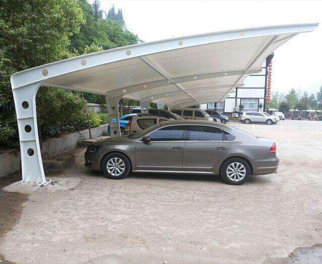 新疆钢结构车棚价格,乌鲁木齐汽车遮阳篷 新疆停车棚