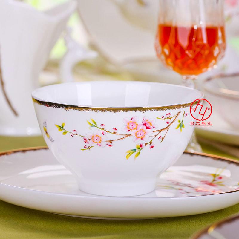 水点桃花 福利礼品餐具以花卉为设计元素,运用欧式风格元素的寓意手法