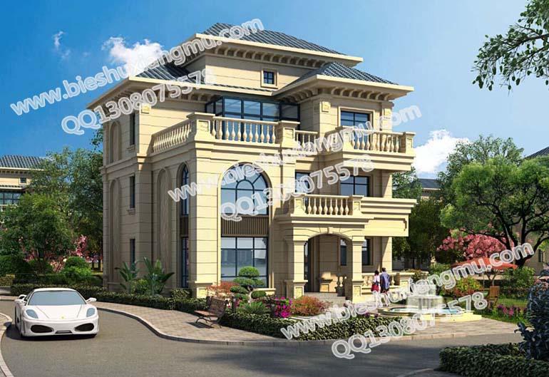 四层新农村房屋设计 豪华乡村别墅设计