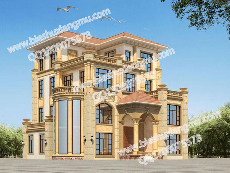 四层独栋别墅设计图 农村自建房设计图