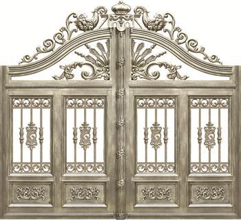 设计生产铝艺大门别墅庭院门欧式铝大门