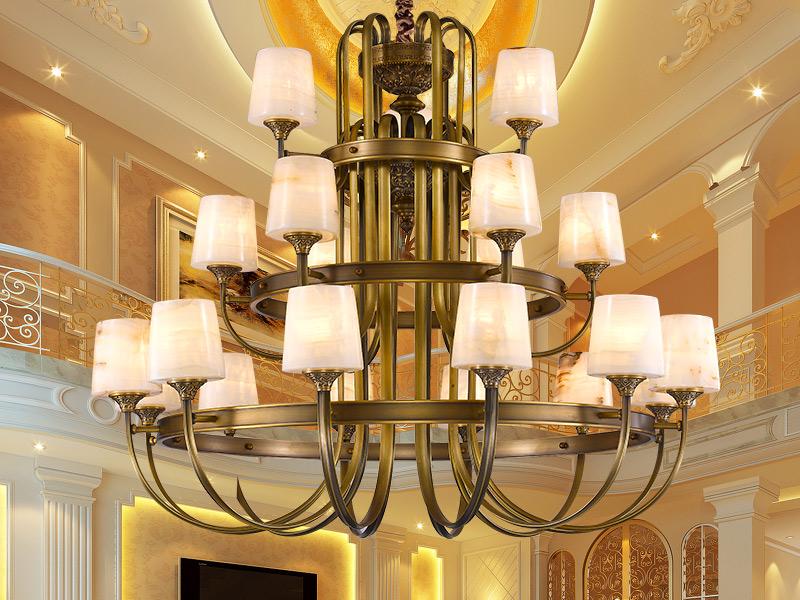 欧式全铜灯品牌好 口碑好的中式全铜玉石灯