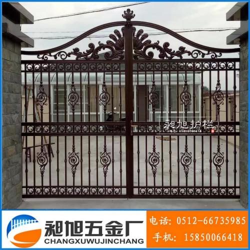 厂家直销定制铸铝合金别墅庭院大门_苏州市相城区渭塘