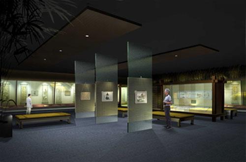 书画展厅设计制作公司 书画展厅搭建装饰 书画展厅布置图片