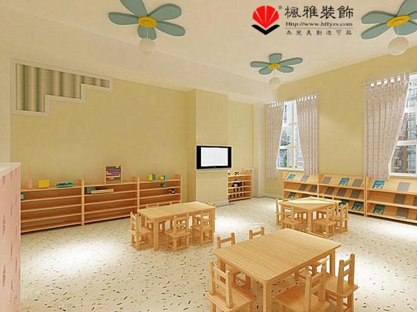 合肥幼儿园、早教中心装修 尊重孩子的天性 幼儿园装修 幼儿园是一个尊重孩子的天性,激发孩子的灵性,塑造孩子的个性的地方,对于孩子的启蒙非常关键。孩童的世界都是丰富多彩的,所以幼儿园的装修,早教中心装修,对于色彩方面的选择要符合孩童的天性。  1.环保问题 幼儿园是孩子聚集之地,幼儿园的装修过程中对于装修材料要采用环保型的。还要注意室内的通风,给孩童一个良好的学习成长环境。  2.