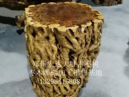 郑州新款枣木凳子,认准宏达根艺雕刻中心—
