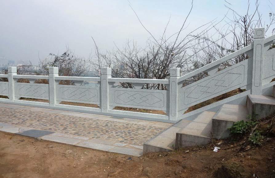 河道河堤石栏杆 石材桥栏杆加工定制厂家