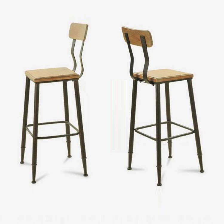 铁艺实木家用酒吧吧台凳欧式高吧椅高凳高脚椅