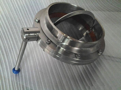 招远快装/焊接70卫生级蝶阀应用于食品机械图片