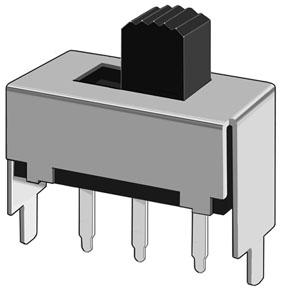 拨动开关SS-12F04(1P2T)三脚拨动开关厂家
