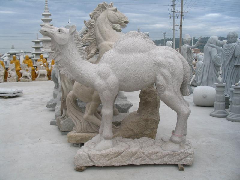 骆驼石雕批发 匠心独运 广西动物石雕厂家_福建省磊翔