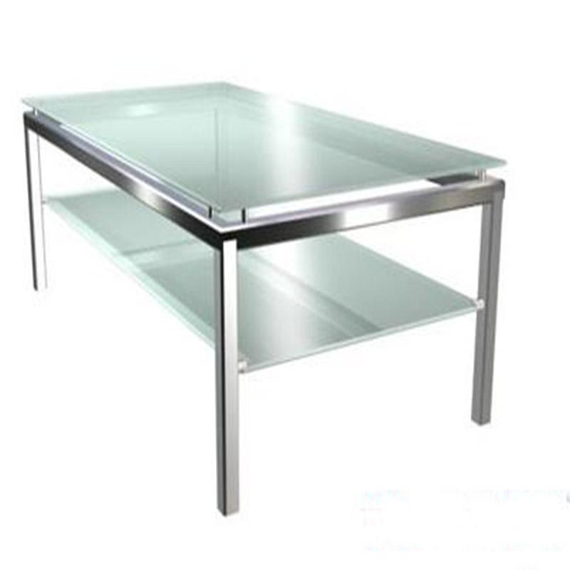 欧式沙发边几角几 不锈钢茶几美式玻璃简约