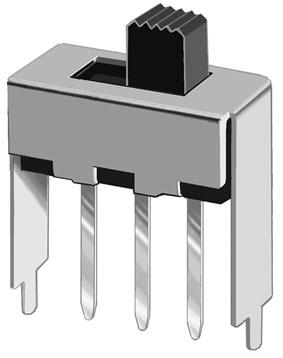 拨动开关SS-12F41带固定脚 直插拨动开关生产