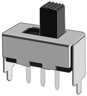 深圳拨动开关SS-12F46(1P2T) 直插拨动开关型号