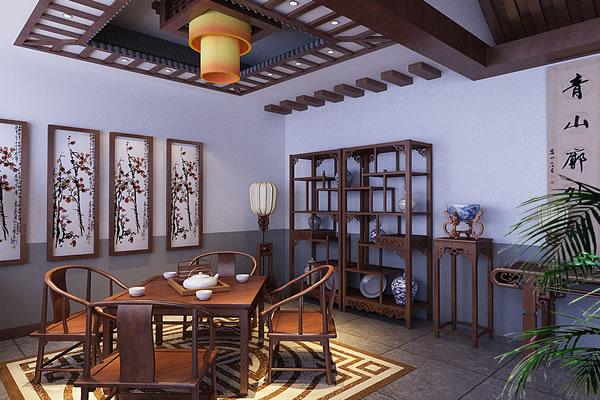 南川茶楼装修设计 南川茶馆装修设计_重庆爱港装饰_商图片