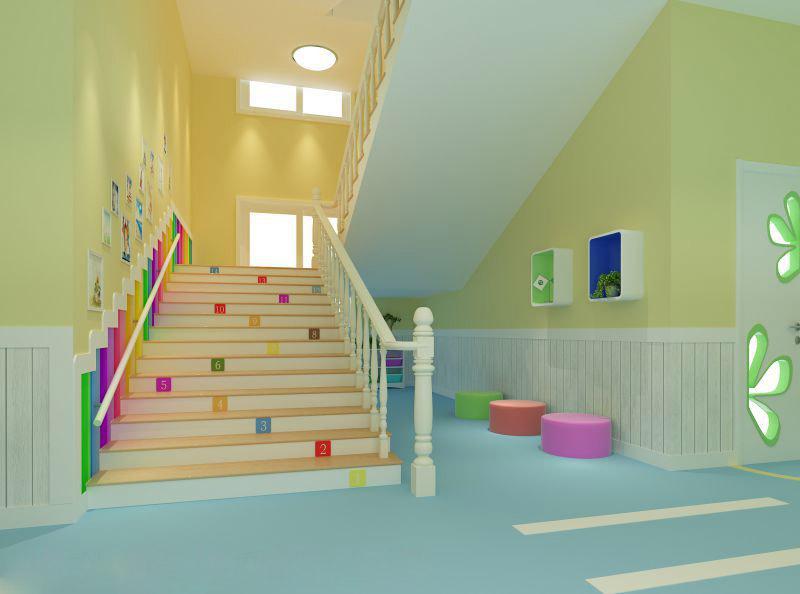 重庆江北幼儿园装修案例|早教学校装修设计图片