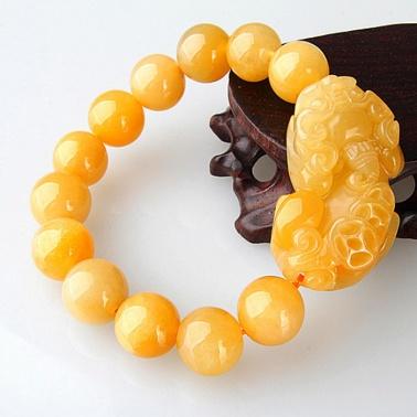 运缘阁黄玉貔貅手链