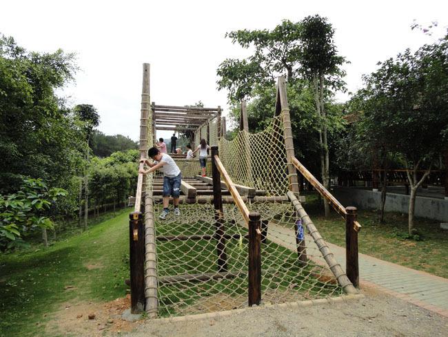 吊桥体儿童乐园攀岩绳索室外游乐设备pet瓶片清洗设备图片