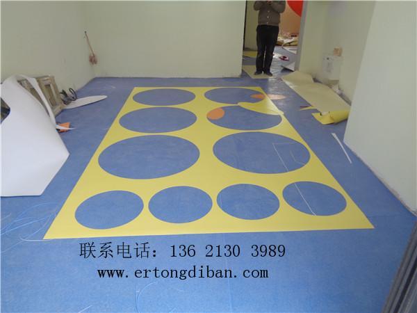 卡通儿童地板 儿童教室彩色地胶 幼儿园新型弹性地板