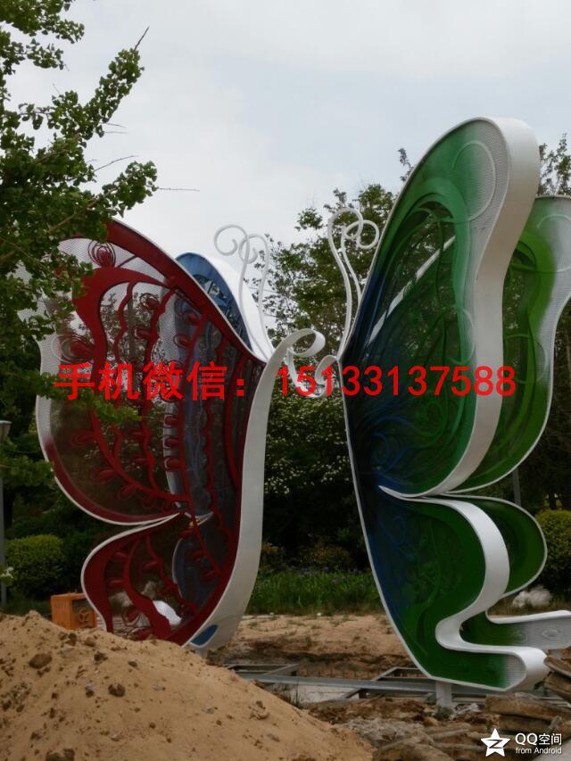 公园蝴蝶雕塑 不锈钢蝴蝶雕塑 动物不锈钢雕塑