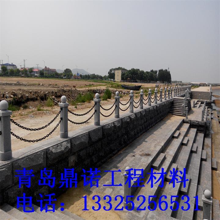 厂家直销防盗护栏塑钢链-风景区亲水平台石柱铁链