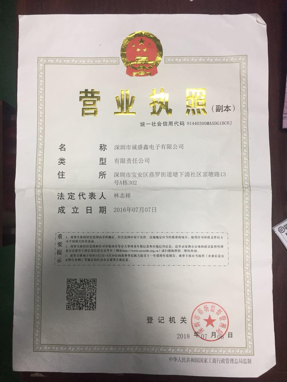 深圳市诚盛鑫电子有限公司