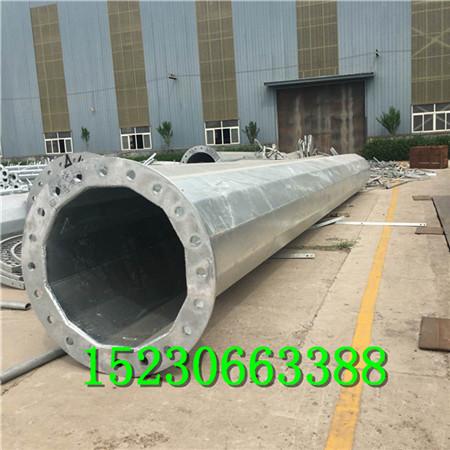供应包头10KV电力钢杆 双回路钢管杆生产厂家