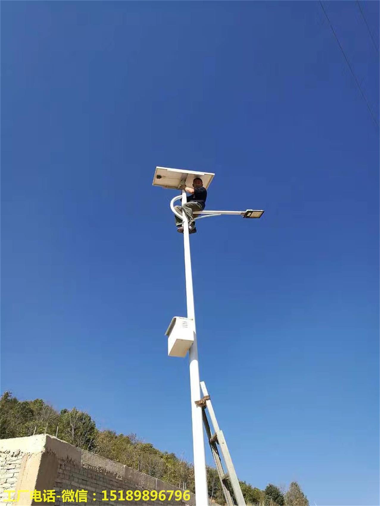 滁州市9米风光互补太阳能路灯