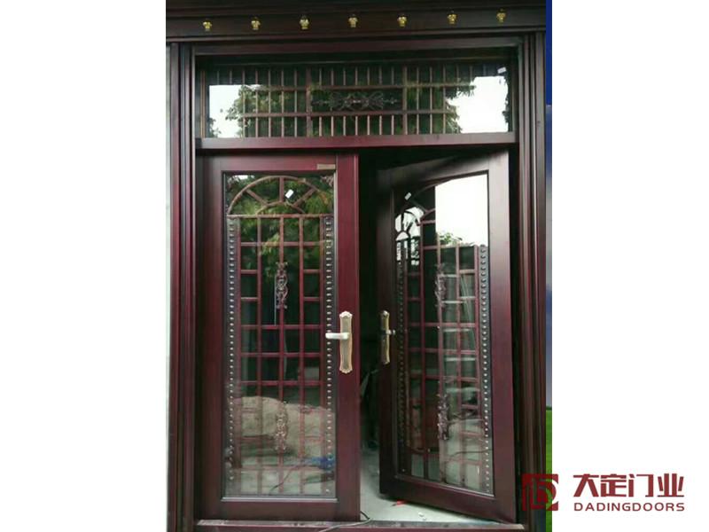 柳州不锈钢门批发_都安大定门业公司提供的彩色不锈钢双开门