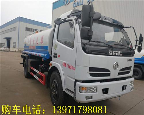 广西百色东风10立方洒水车水泵