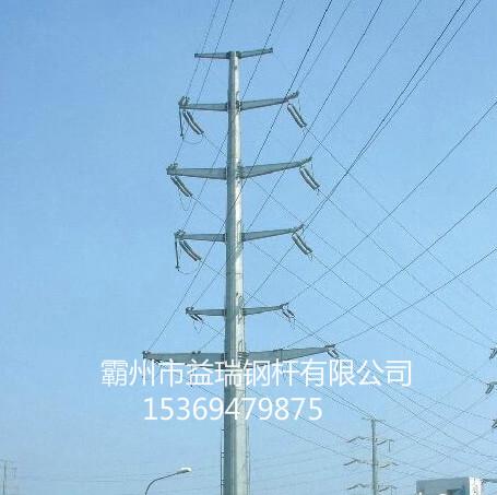 电力输电15米钢管塔 双回路10kv钢管塔