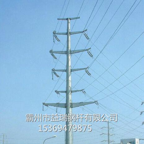常德市12米直线钢杆 35kv终端钢杆 打桩施工