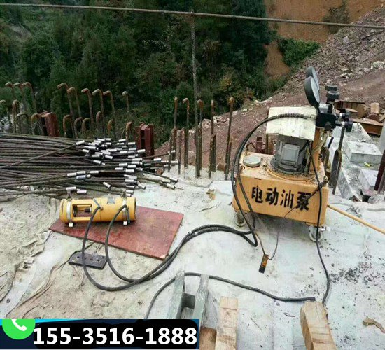 徐州电动油泵千斤顶锚具P锚专用钢绞线挤压机