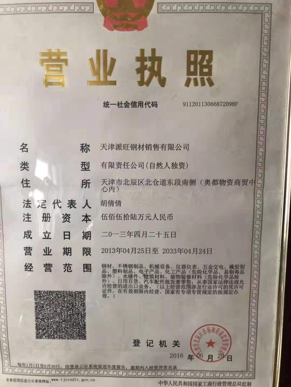天津派旺钢材销售Logo
