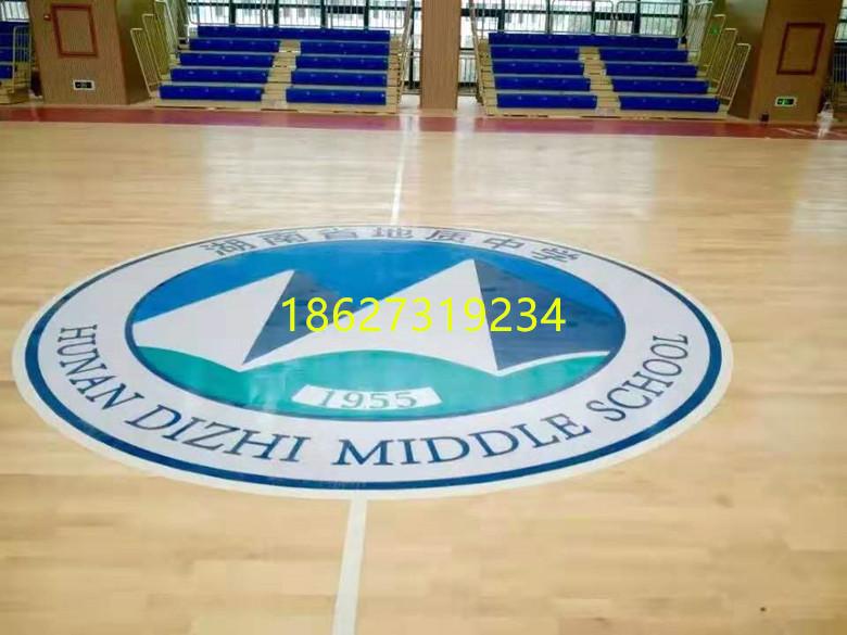 汉寿县硬木企口篮球馆木地板翻新划线