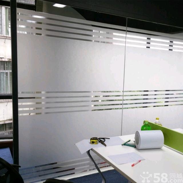 石家庄建筑玻璃贴膜磨砂膜办公室玻璃膜