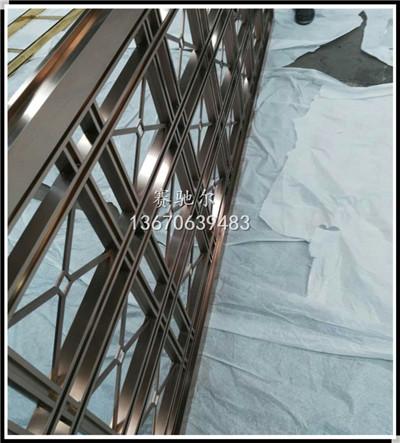 大连市酒店装修不锈钢屏风定做厂家