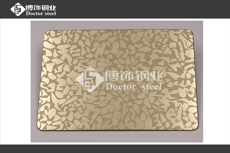 304不锈钢镜面钛金蚀刻多边花装饰板,不锈钢表面加工不锈钢镜面蚀刻板